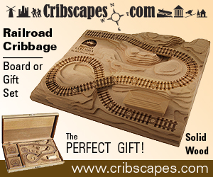 CribscapesRailroadCribbageBoard